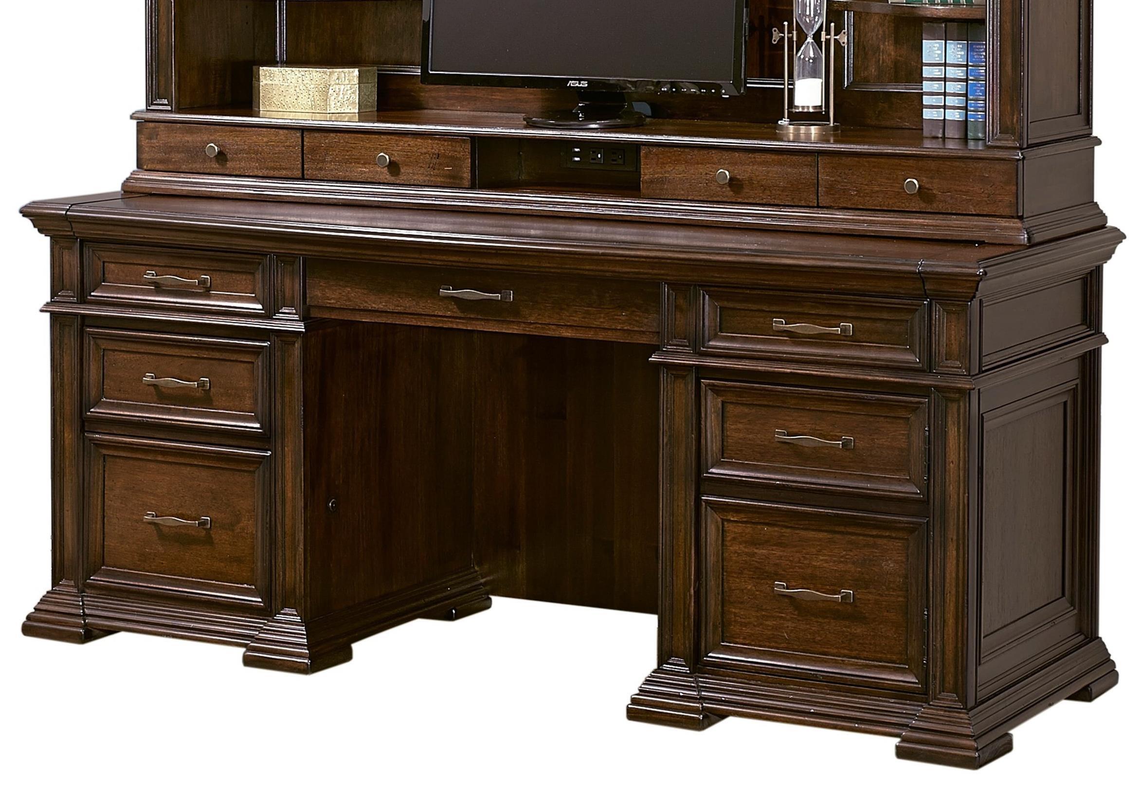 "Grand Classic 74"" Credenza Desk by Aspenhome at Baer's Furniture"
