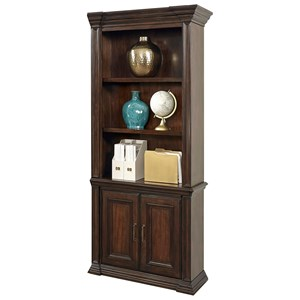 Door Bookcase with Concealed Drawer