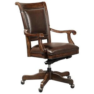Office Arm Chair with Nailhead Trim