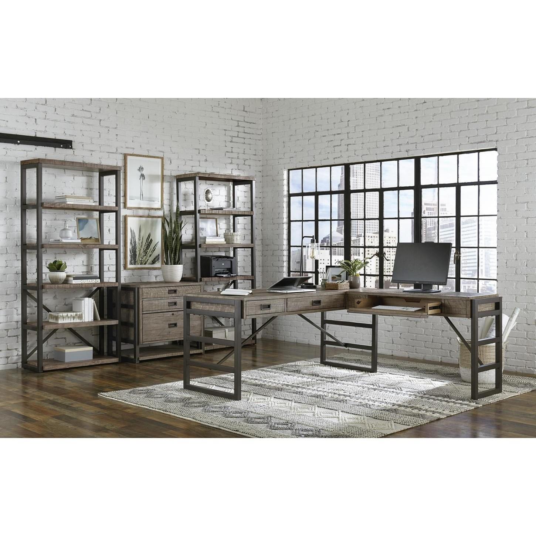Grayson L-Shaped Desk by Aspenhome at Walker's Furniture