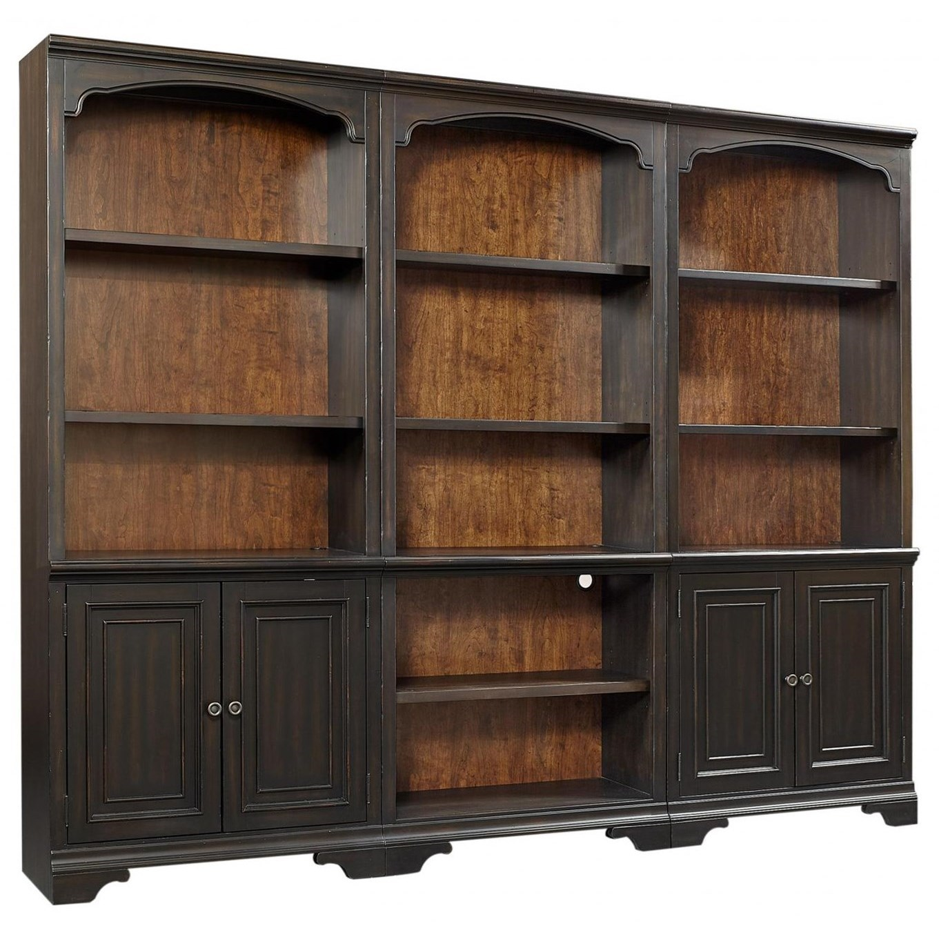Hampton Bookcase Wall by Aspenhome at Walker's Furniture