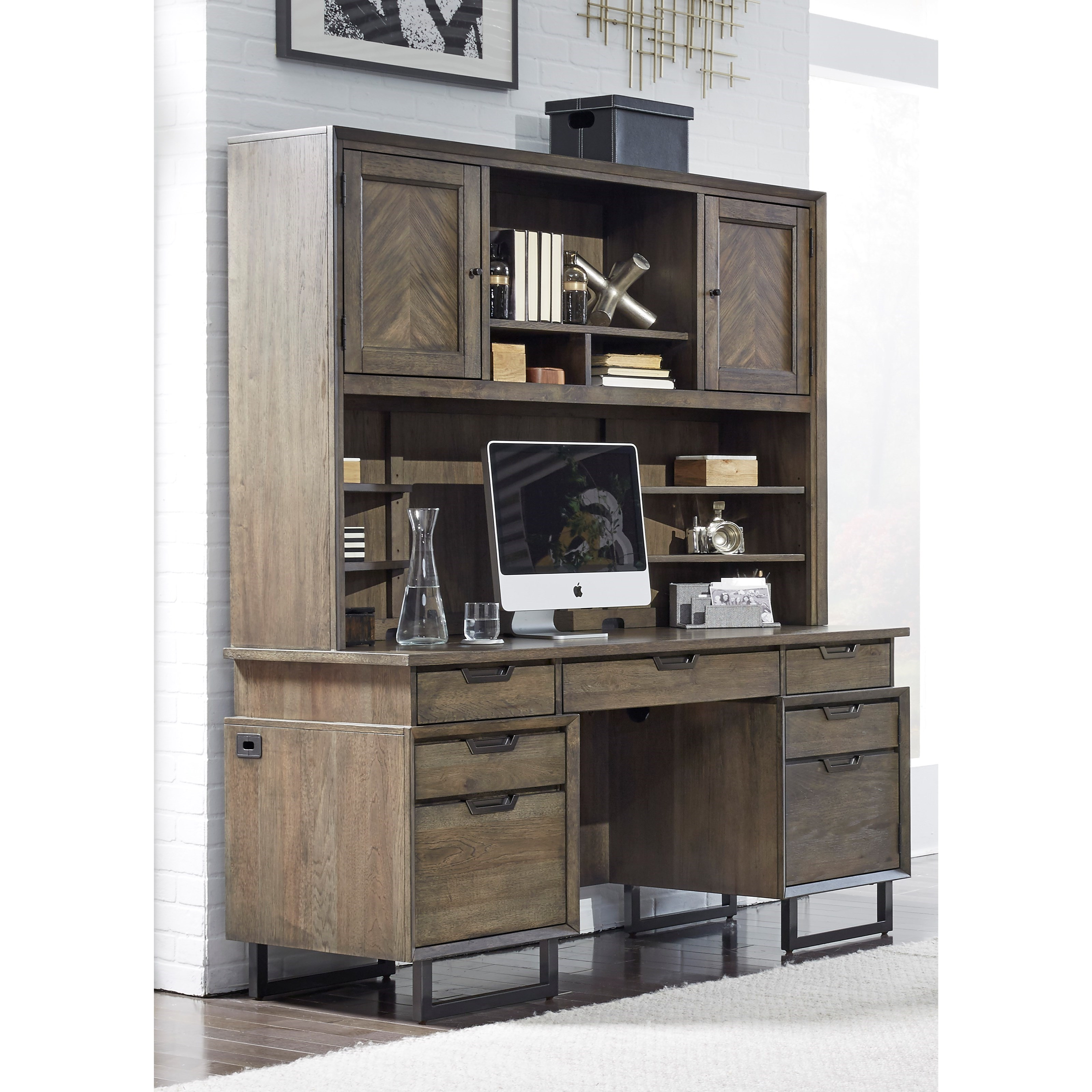 Harper Point Desk and Hutch by Aspenhome at Darvin Furniture