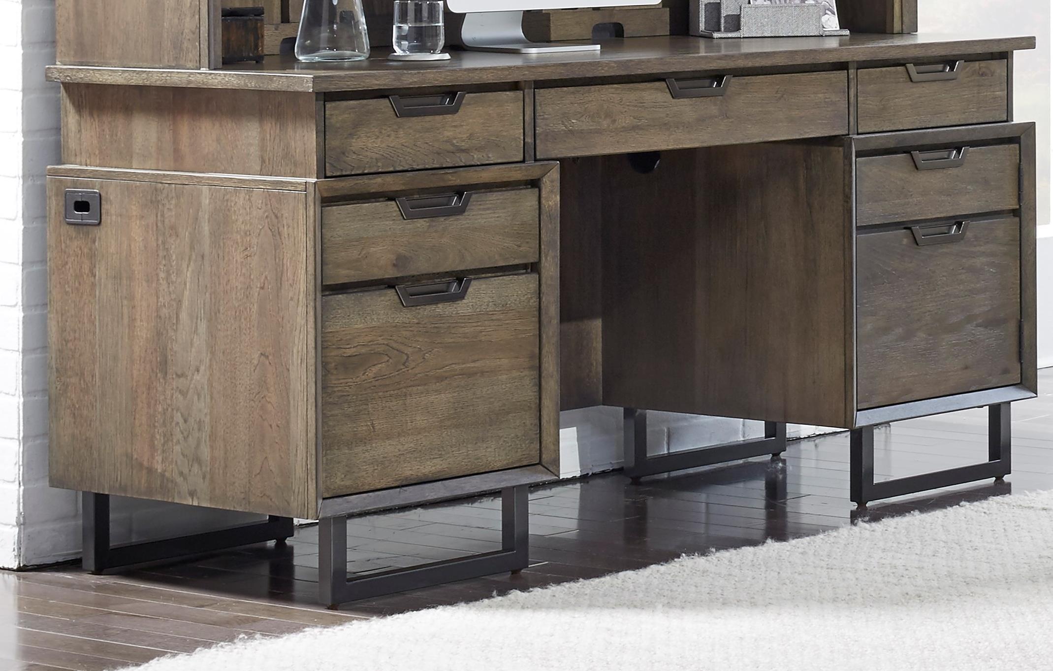 Harper Point Credenza Desk  by Aspenhome at Baer's Furniture