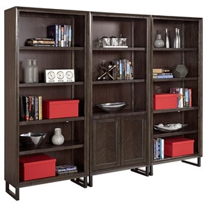 Contemporary Bookcase Set with Adjustable Shelves