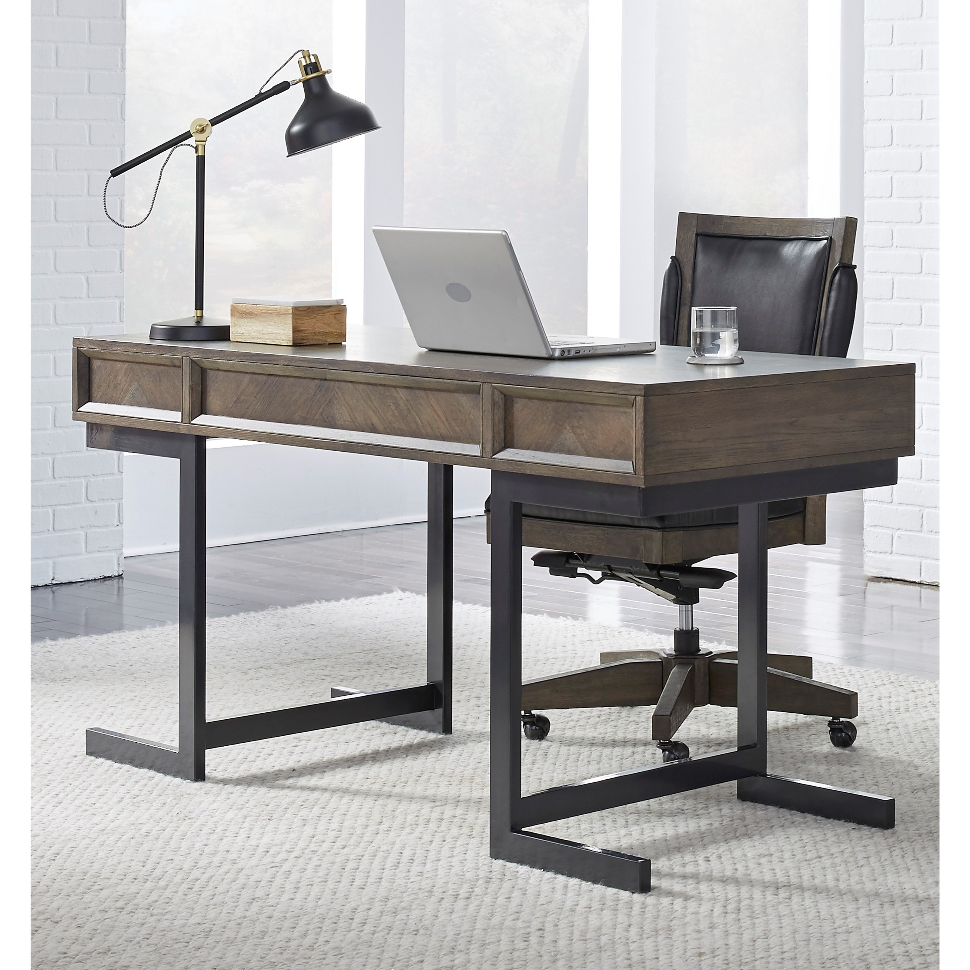 Harper Point Contemporary Desk by Aspenhome at Walker's Furniture