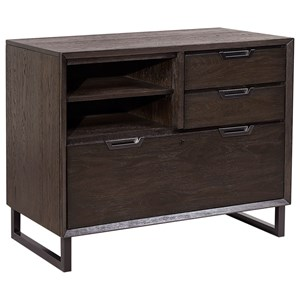 Contemporary Combo File with Locking Lateral Drawer