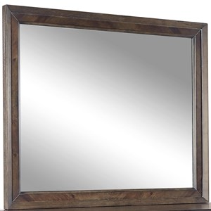 Landscape Mirror with Graphite Finished Frame
