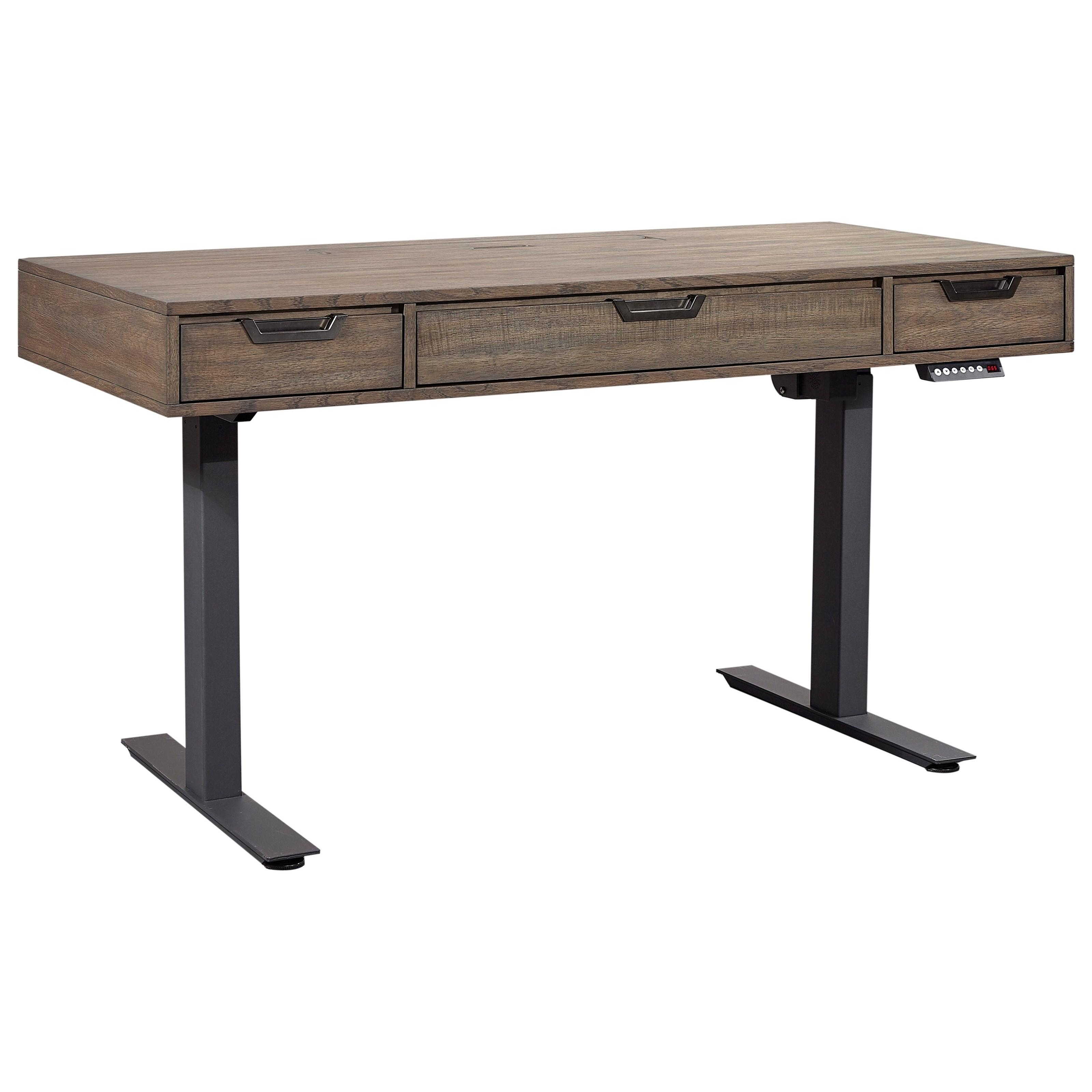 Harper Point Adjustable Lift Desk by Aspenhome at Baer's Furniture