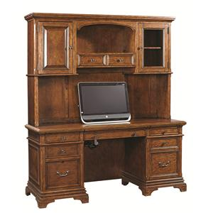 Aspenhome Hawthorne 74-Inch Credenza Desk and Hutch