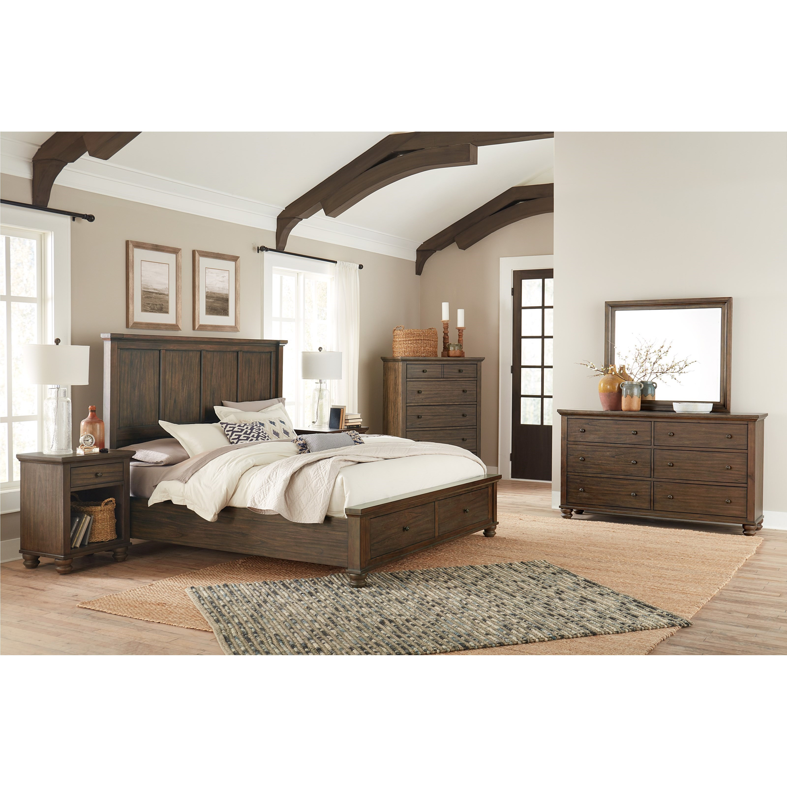 Hudson Valley King Bedroom Group by Aspenhome at Walker's Furniture