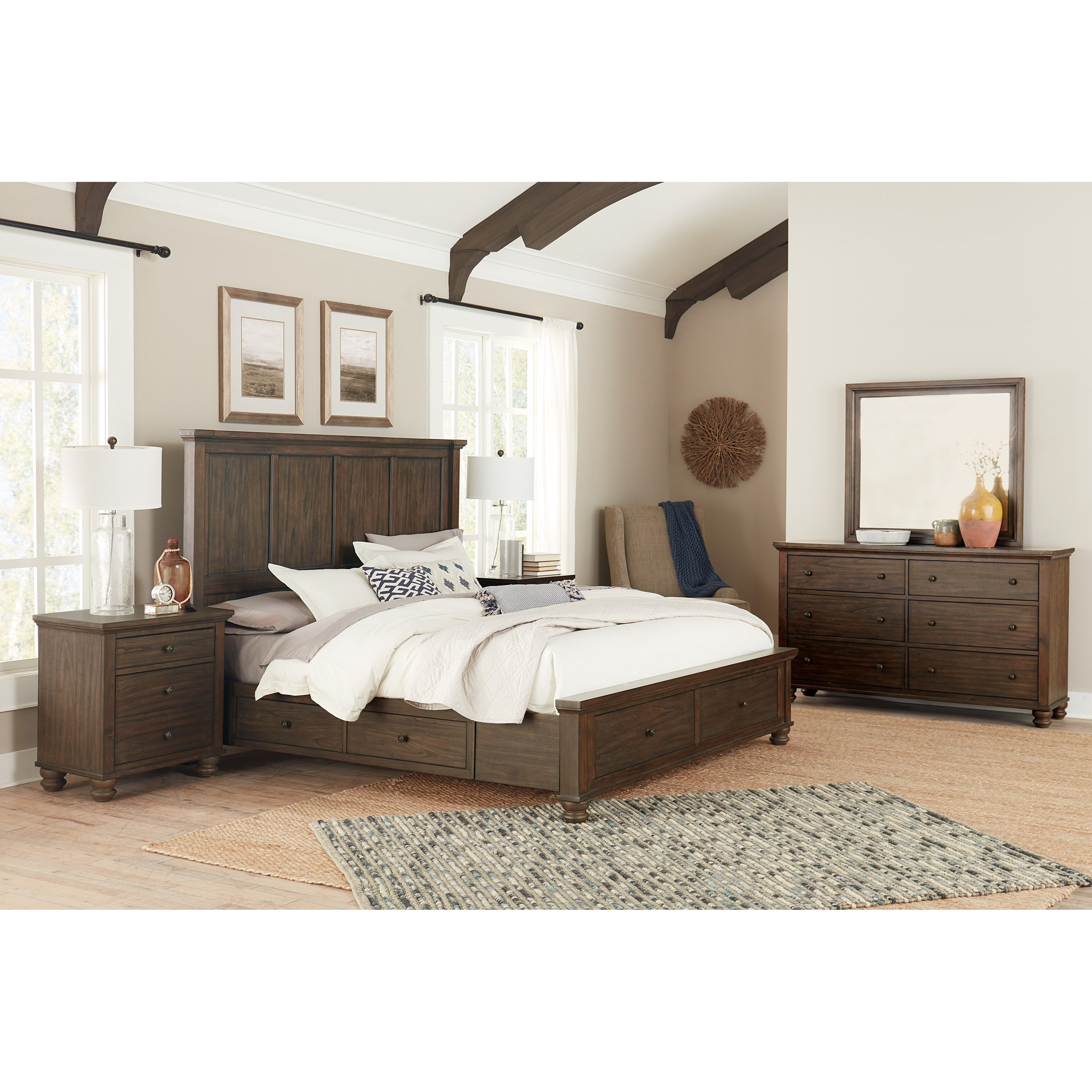 Hudson Valley Queen Bedroom Group by Aspenhome at Stoney Creek Furniture