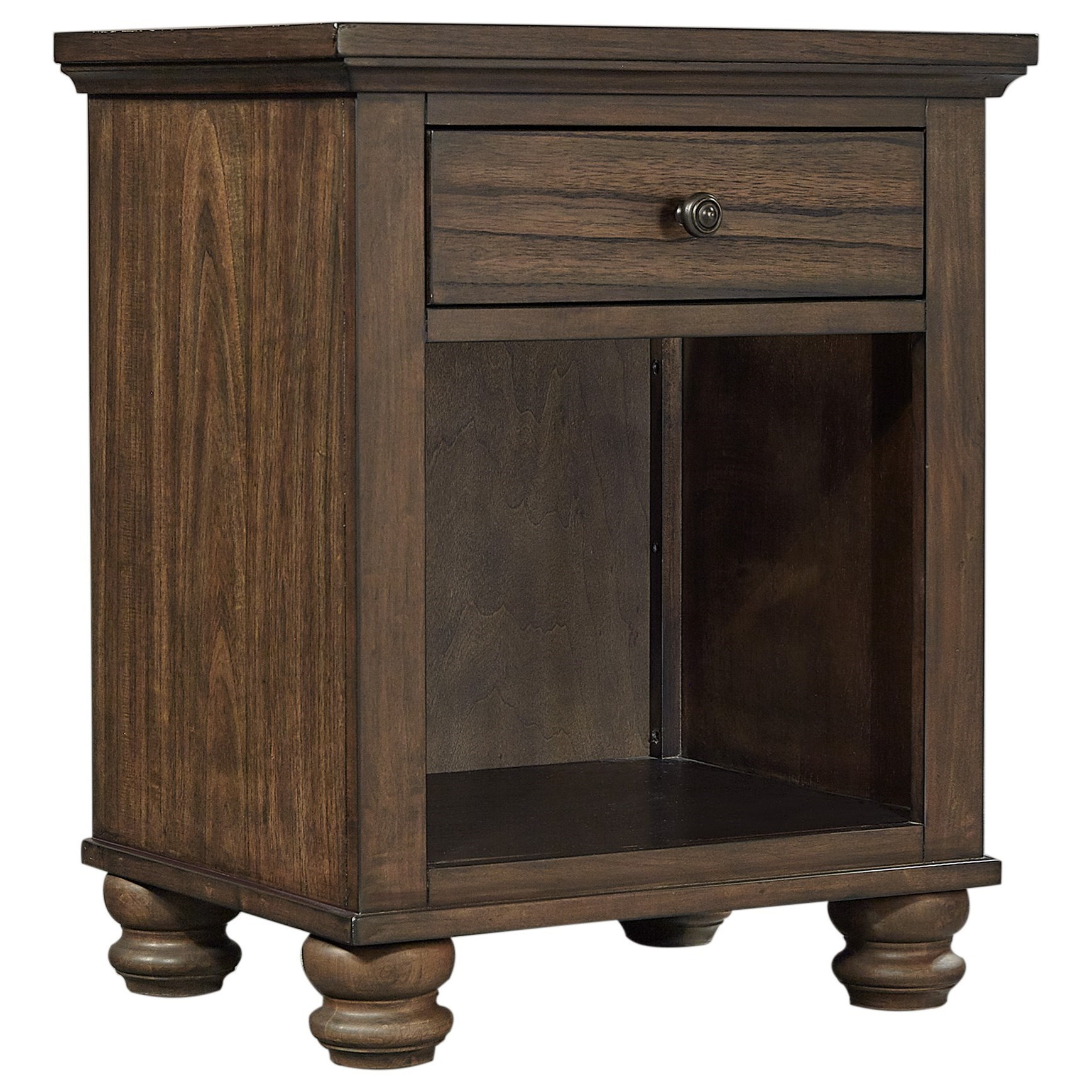 Hudson Valley 1 Drawer Nightstand by Aspenhome at Walker's Furniture