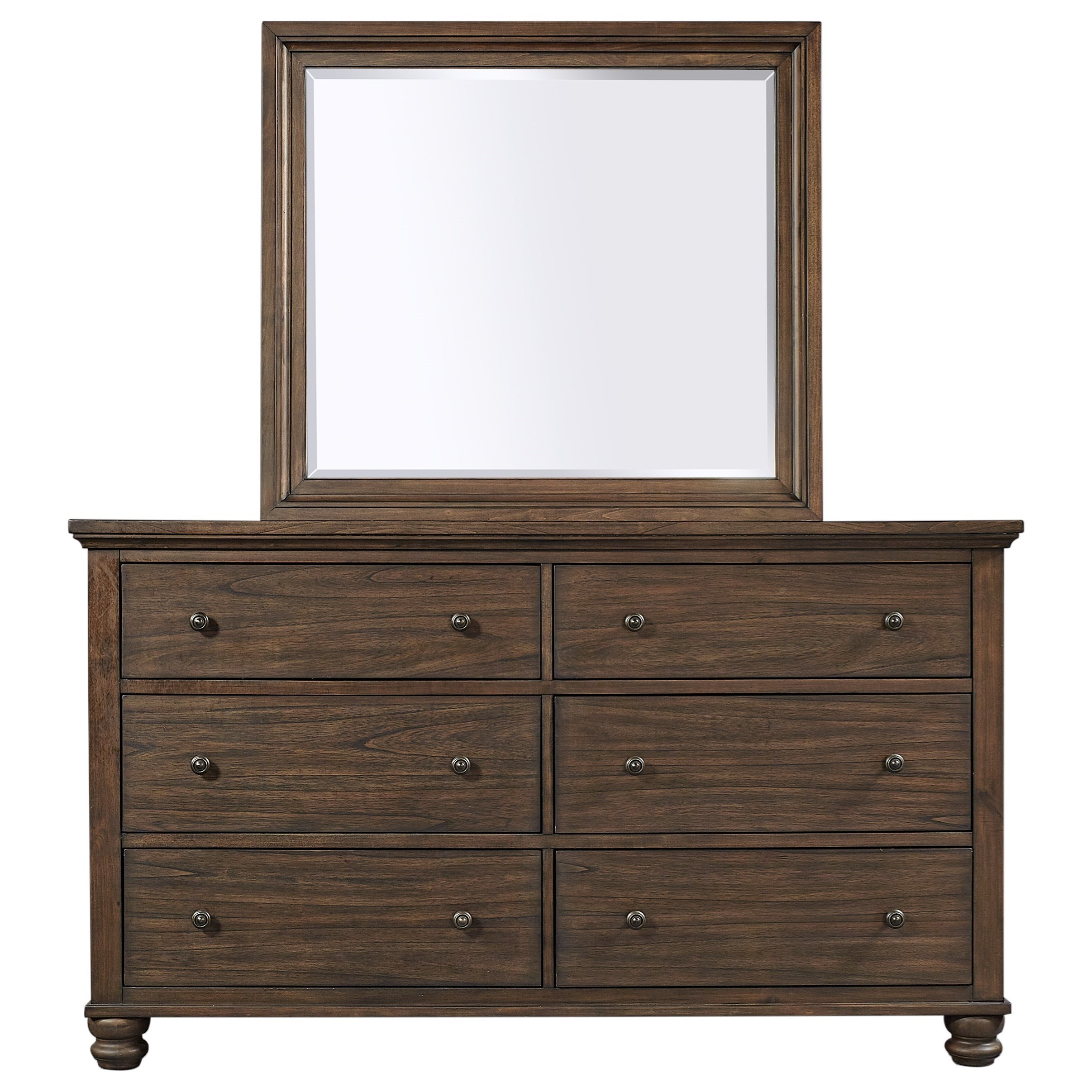 Hudson Valley Dresser and Mirror Combination by Aspenhome at Walker's Furniture