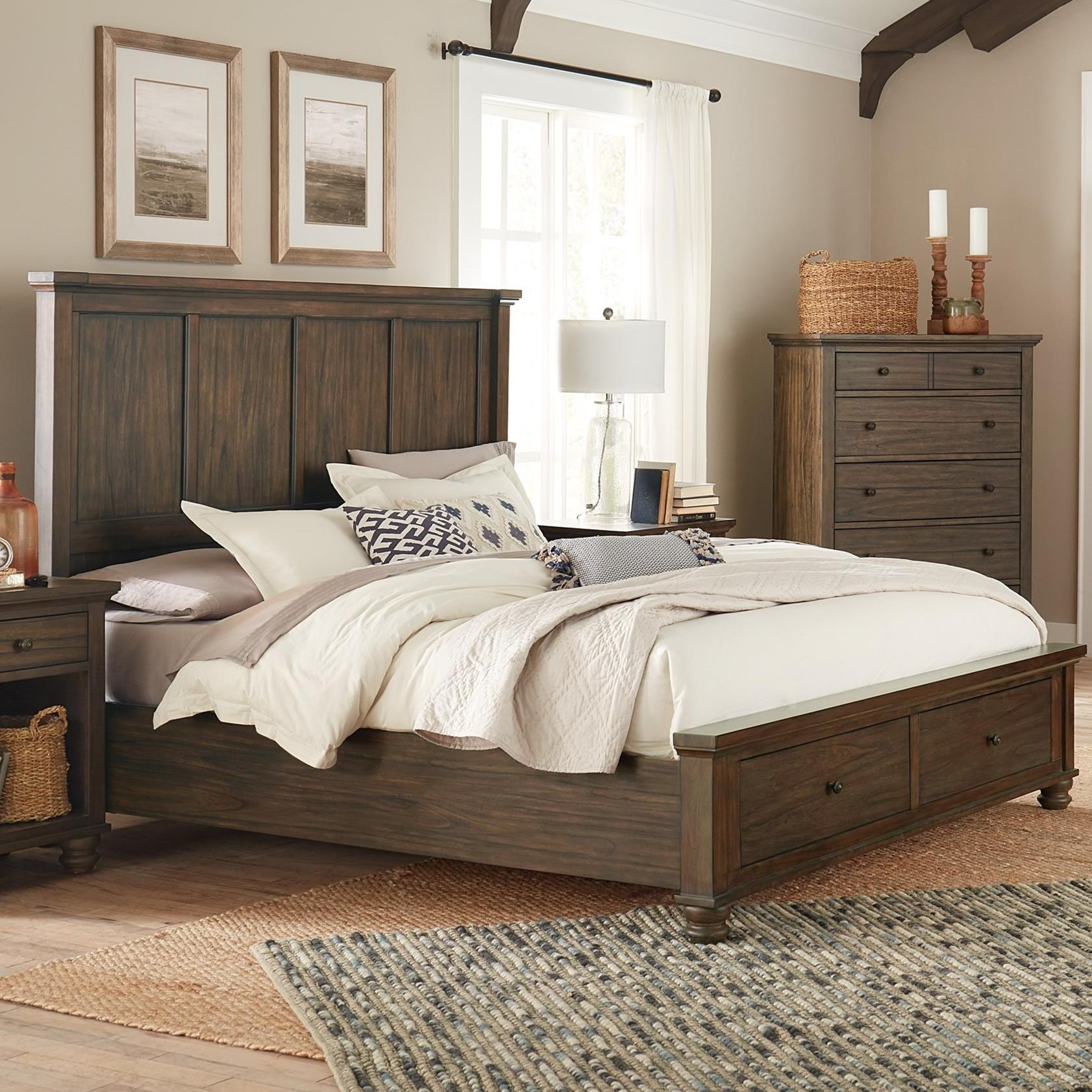 Hudson Valley Cal King Panel Bed by Aspenhome at Walker's Furniture