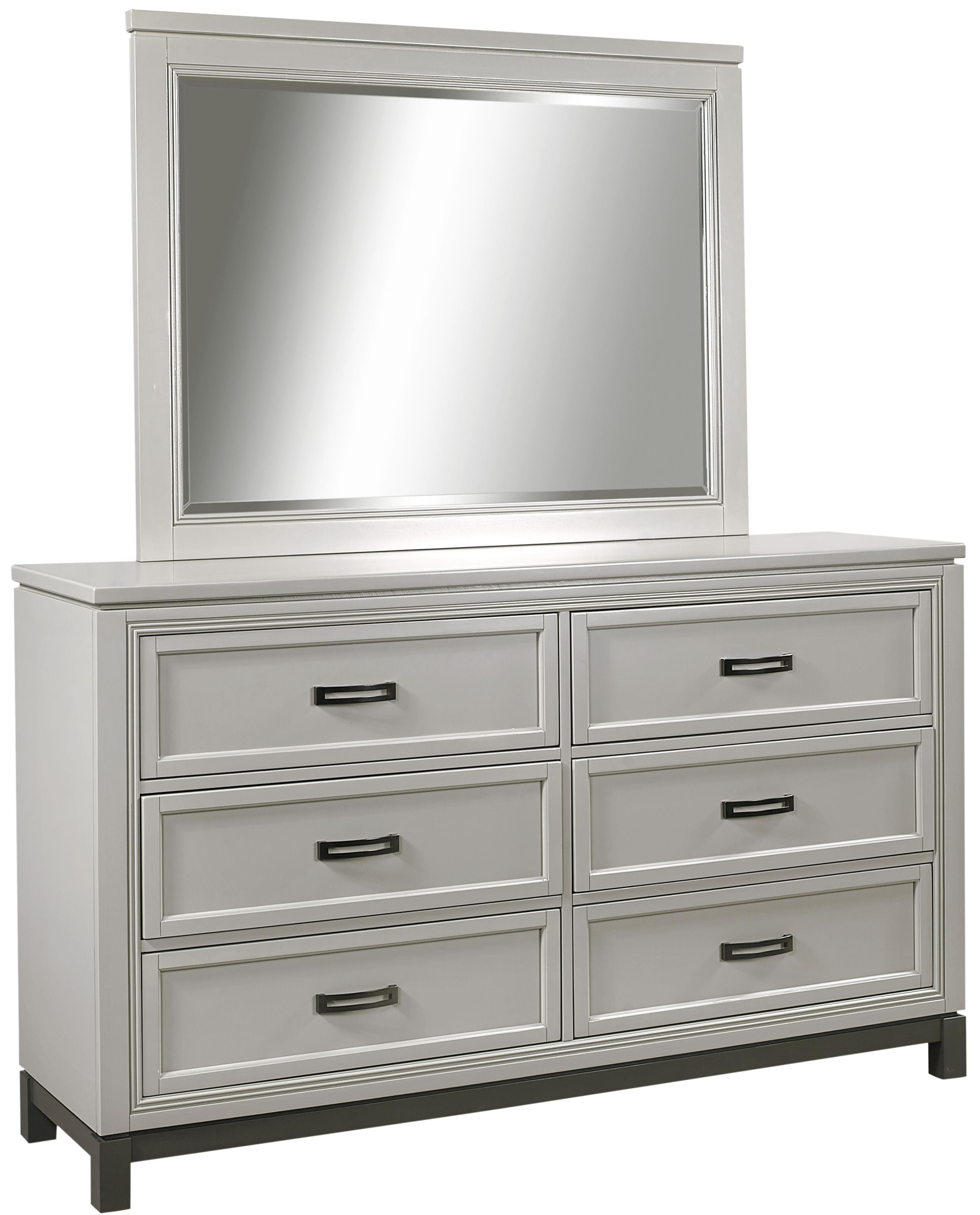 Hyde Park 6 Drawer Dresser and Mirror by Aspenhome at Baer's Furniture