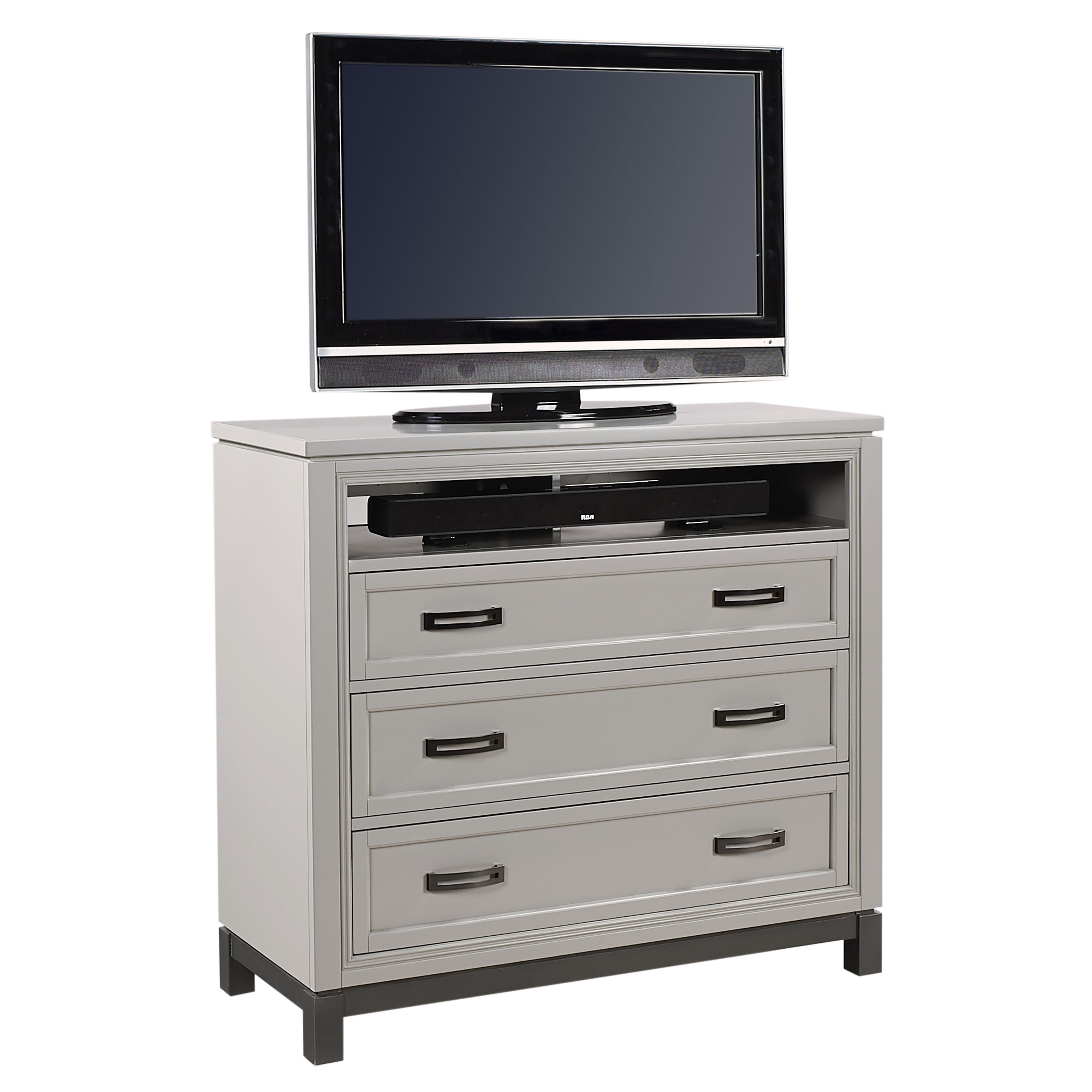 Hyde Park Entertainment Chest  by Aspenhome at Gill Brothers Furniture