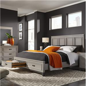 California King Painted Panel Bed with Storage