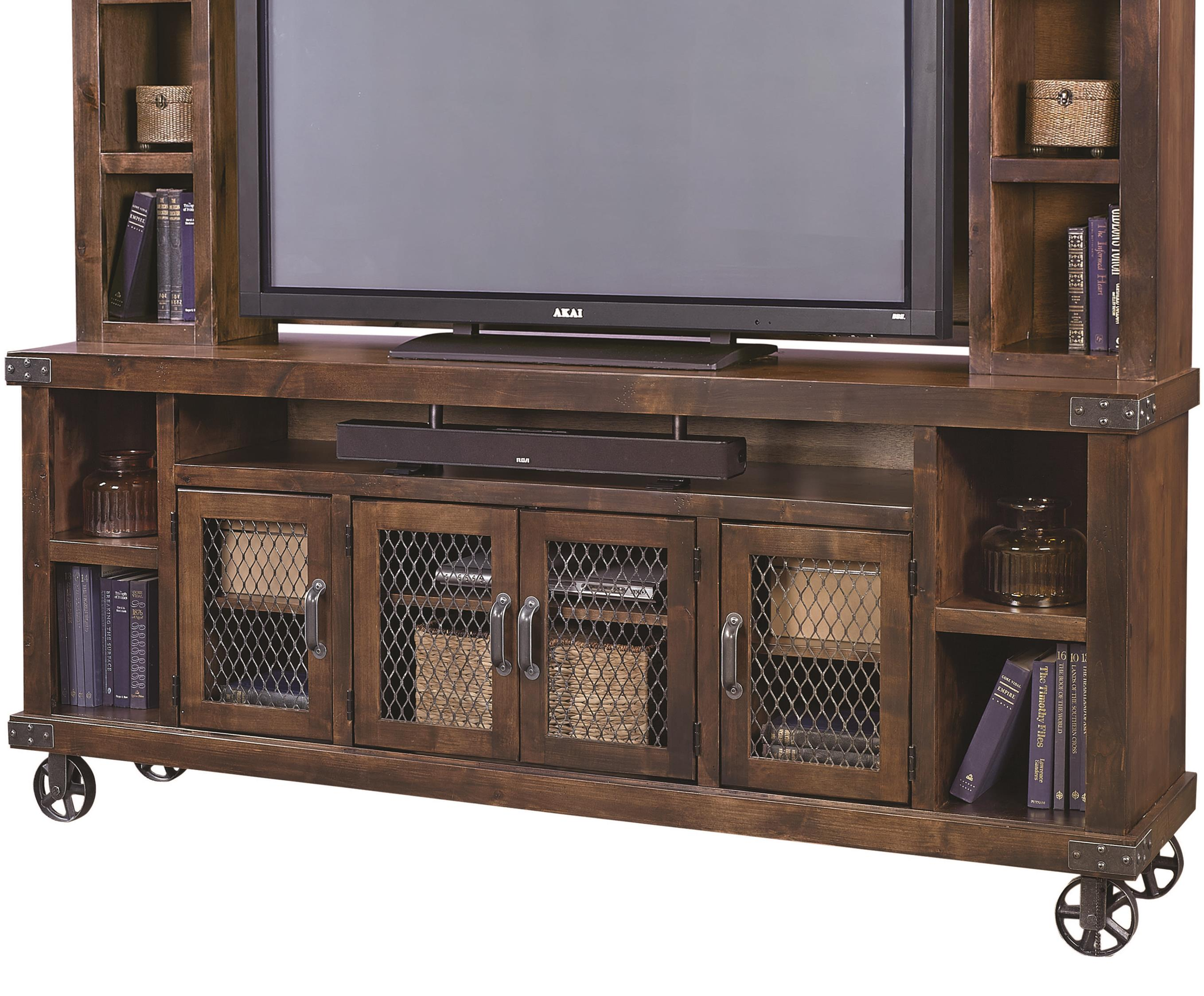 """Industrial 84"""" Console  by Aspenhome at Mueller Furniture"""