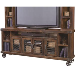 "84"" Console with 4 Wire Doors"