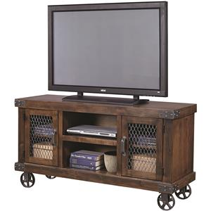 "55"" Console with Metal Casters"