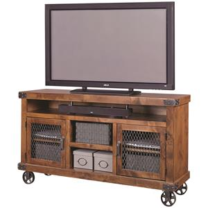 "65"" Console with Metal Casters"