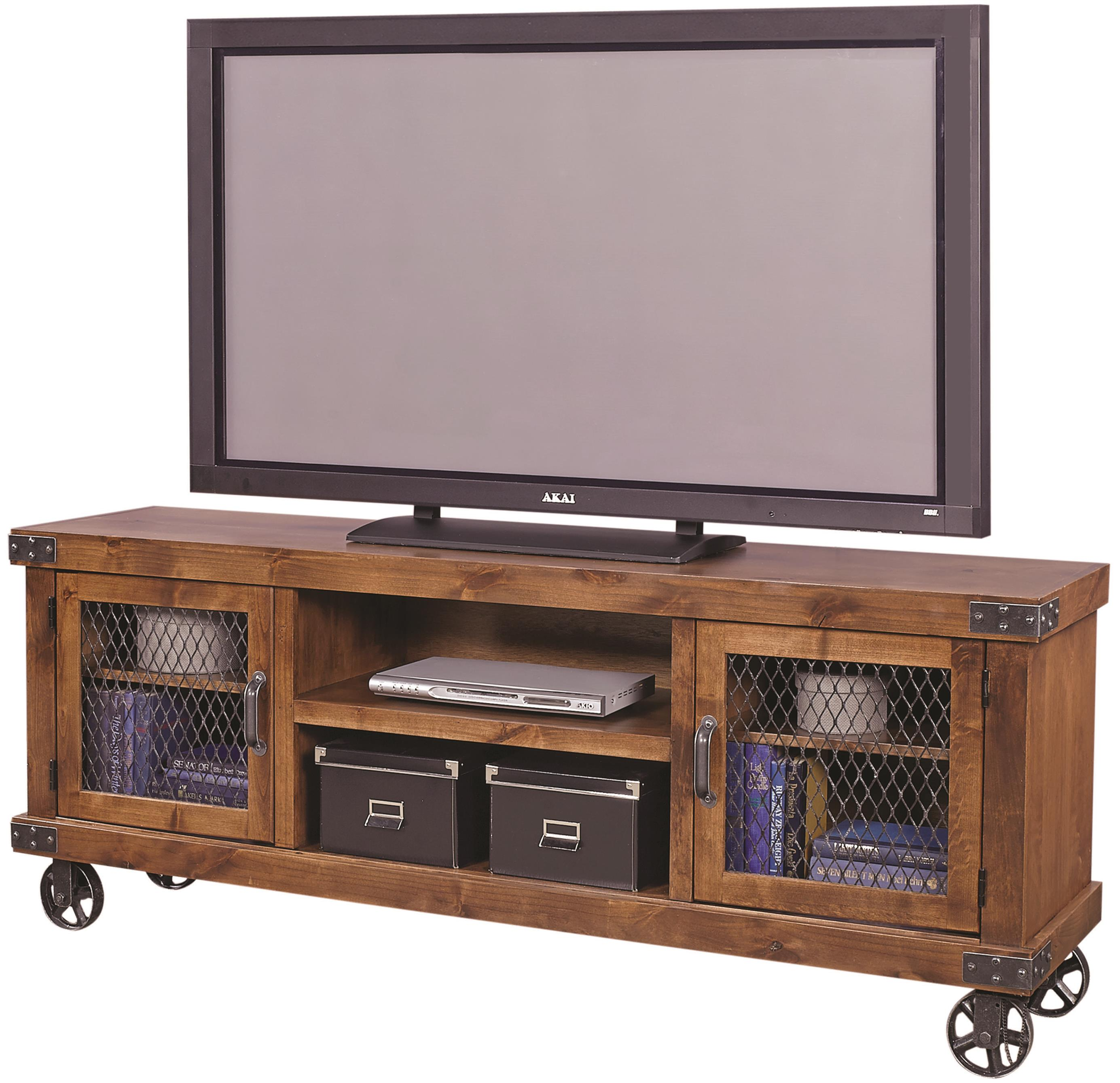 """Industrial 74"""" Console  by Aspenhome at Walker's Furniture"""