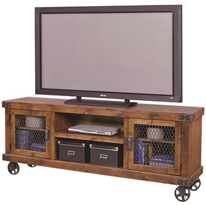 "74"" Console with 2 Doors and Casters"