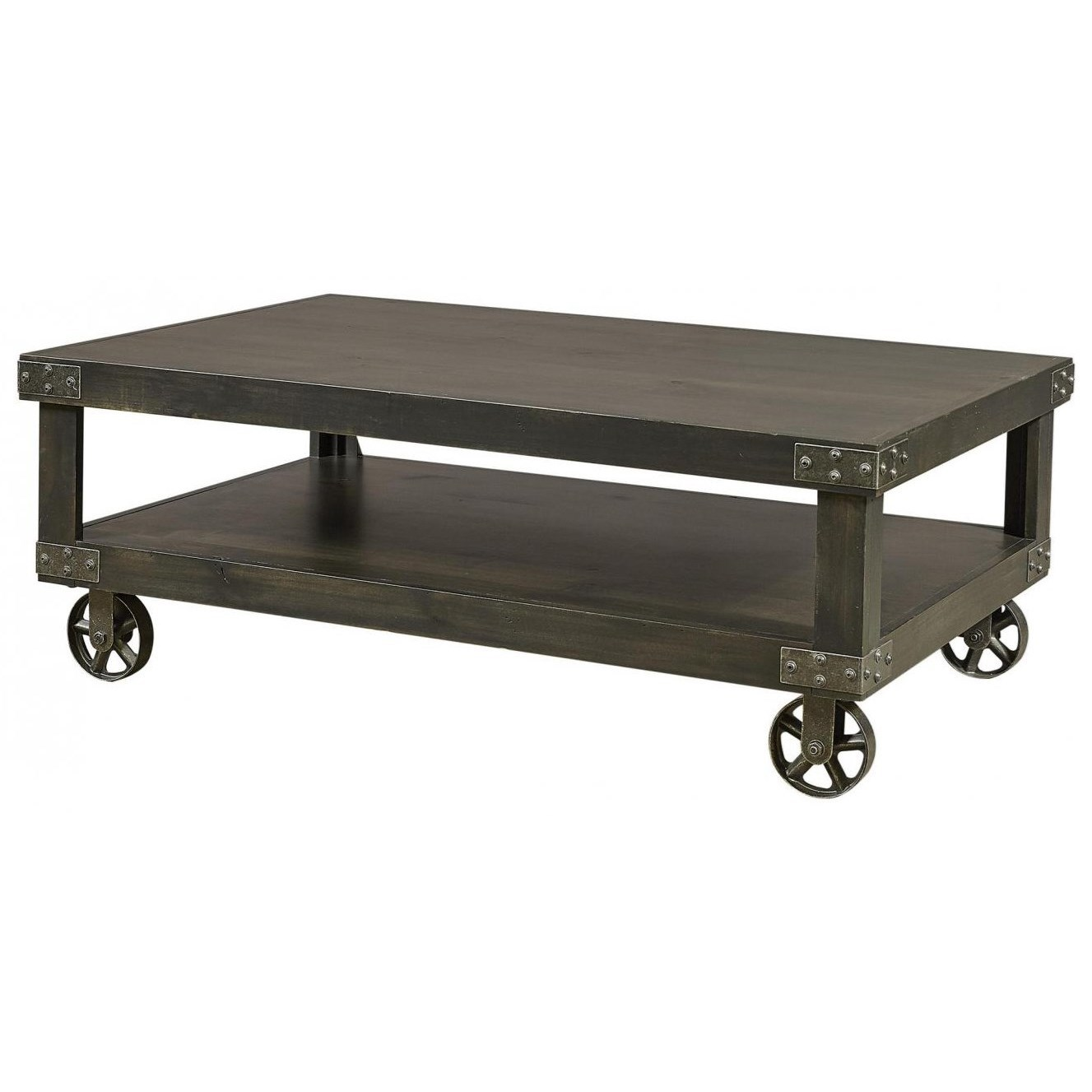 Industrial Cocktail Table  by Aspenhome at Walker's Furniture