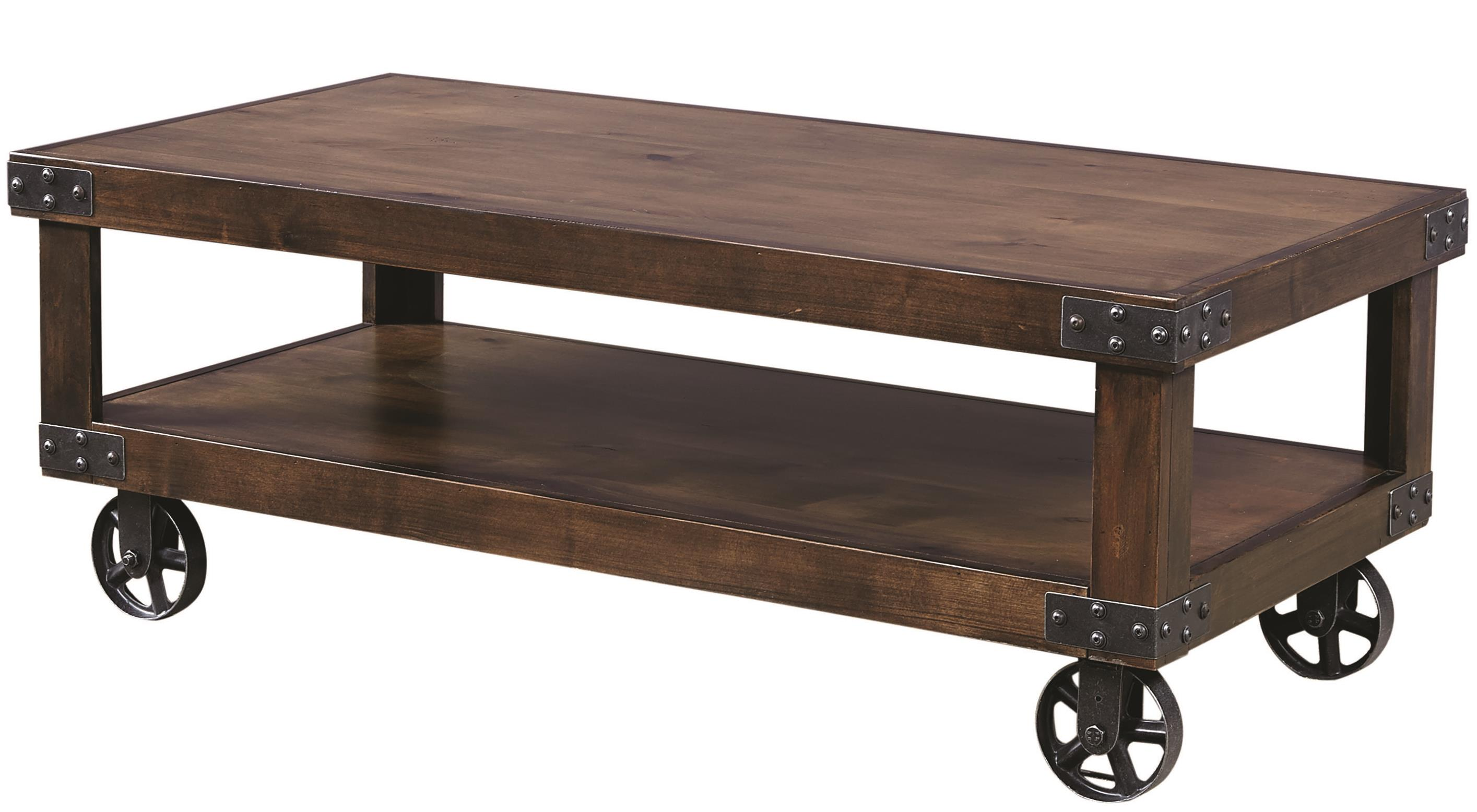 Industrial Cocktail Table  by Aspenhome at Mueller Furniture