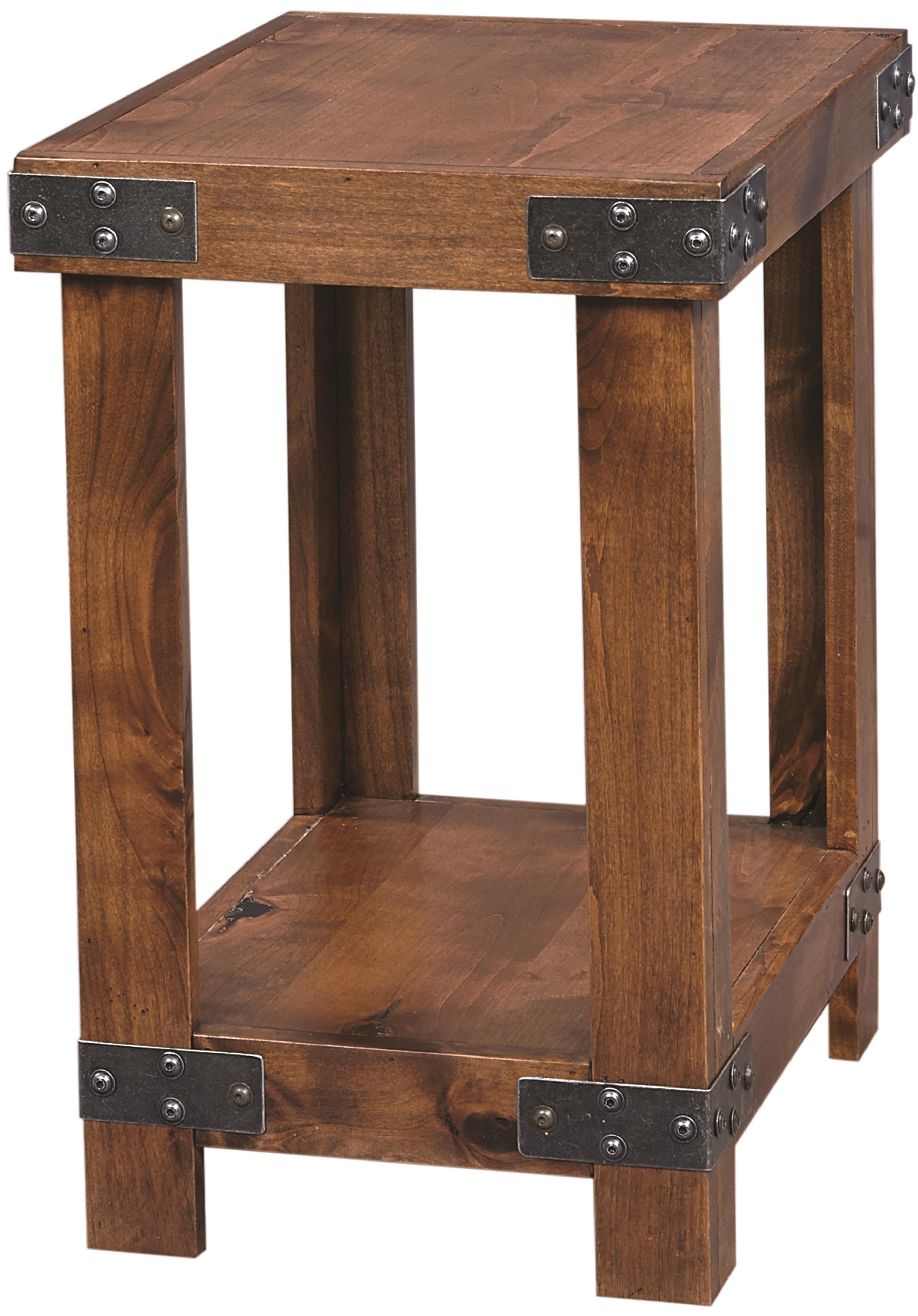 Industrial Chairside Table  by Aspenhome at Walker's Furniture