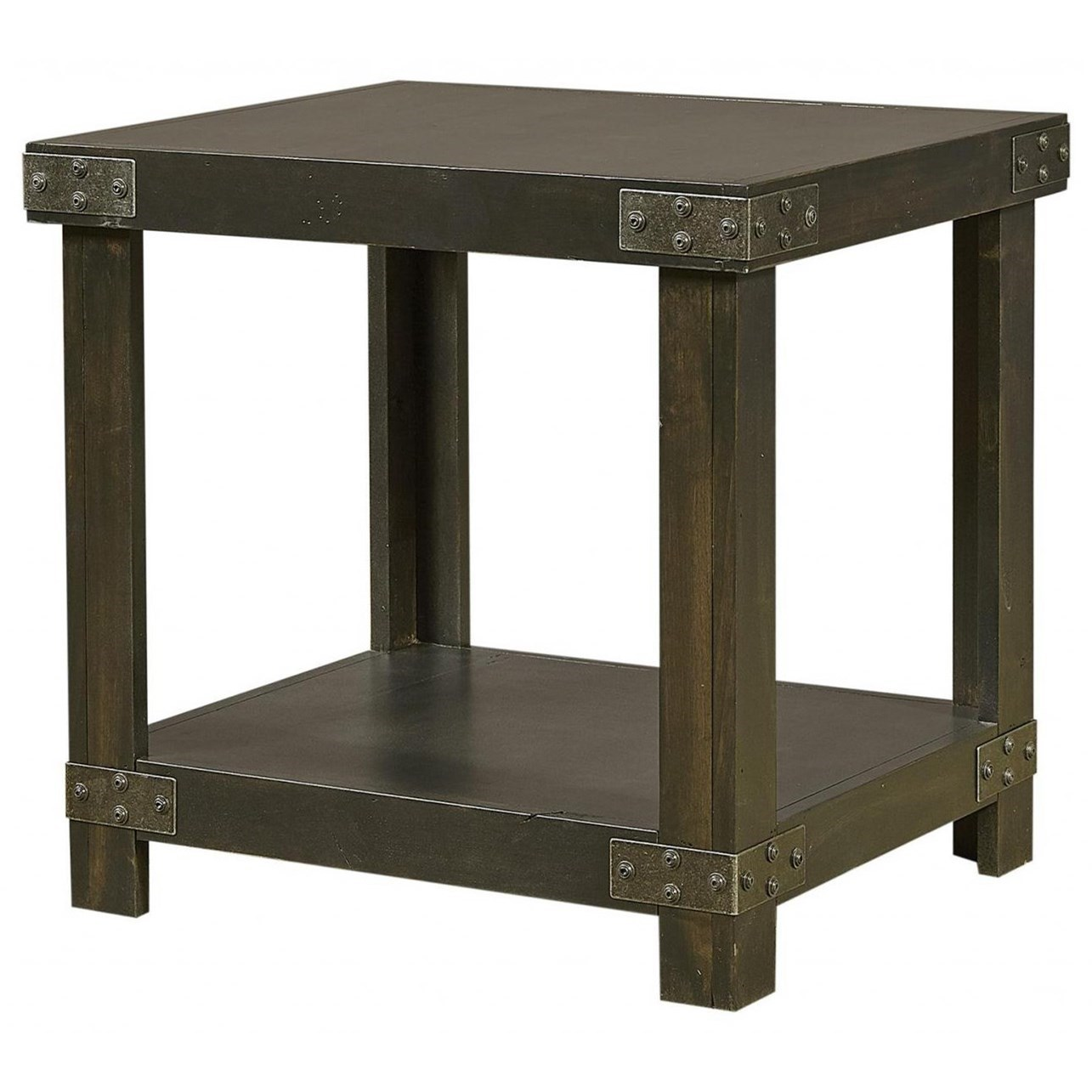 Industrial End Table  by Aspenhome at Baer's Furniture