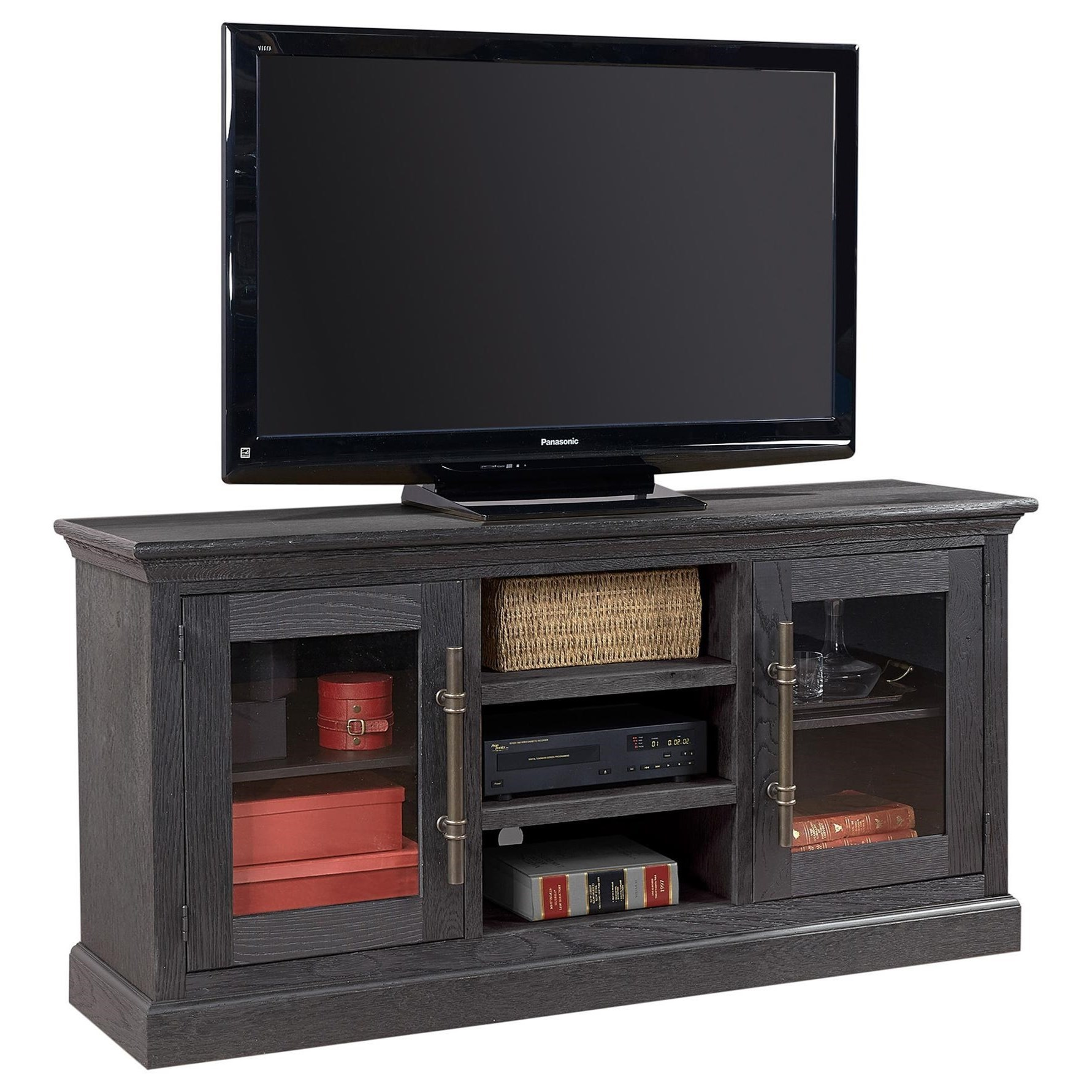 "Manchester 67"" Console with 2 Doors  by Aspenhome at Baer's Furniture"