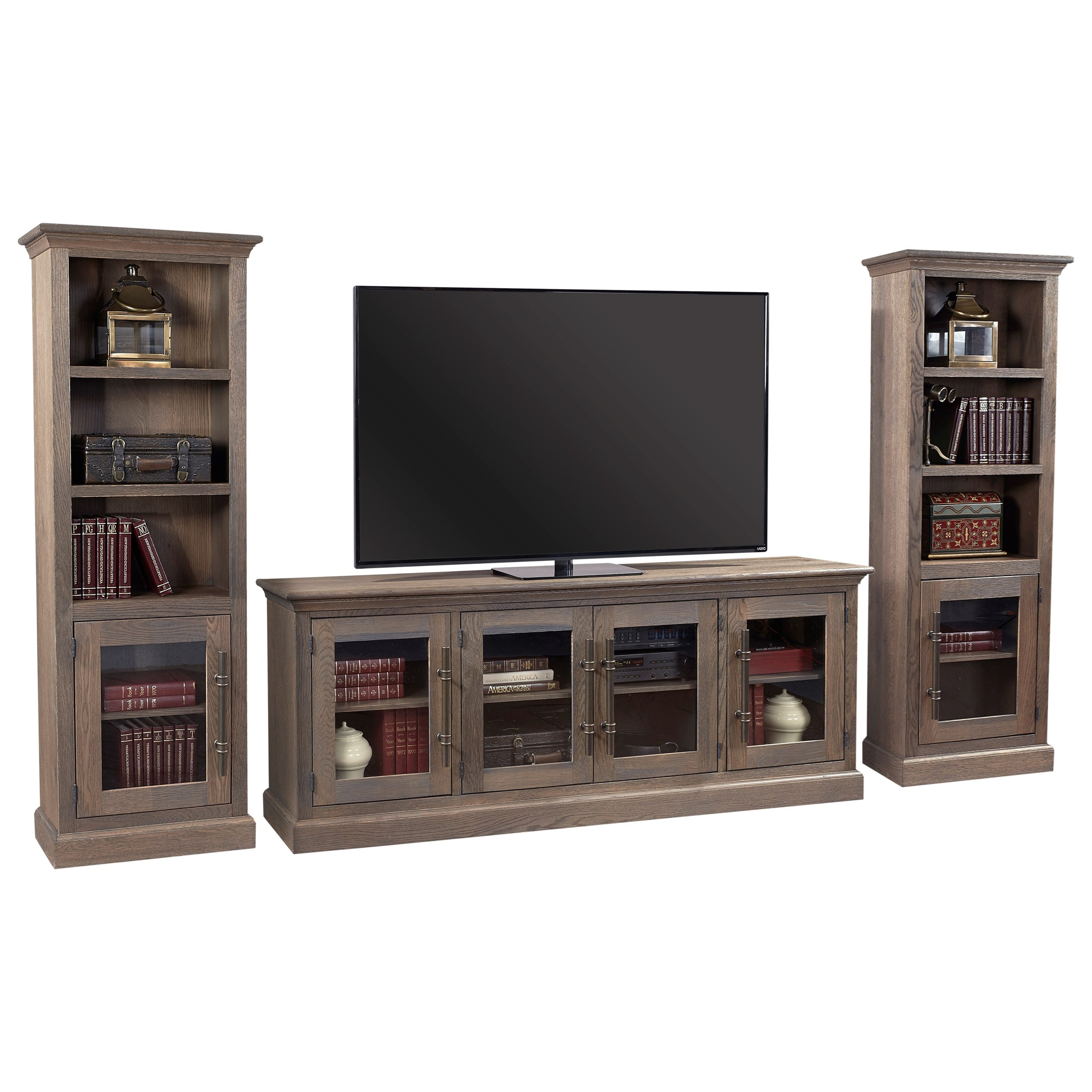 """Manchester 85"""" Entertainment Wall by Aspenhome at Walker's Furniture"""