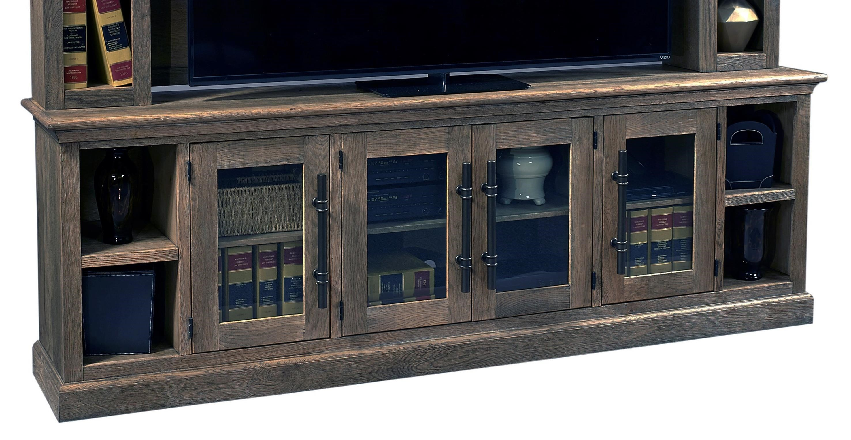 """Manchester 97"""" Console with 4 Doors  by Aspenhome at Walker's Furniture"""