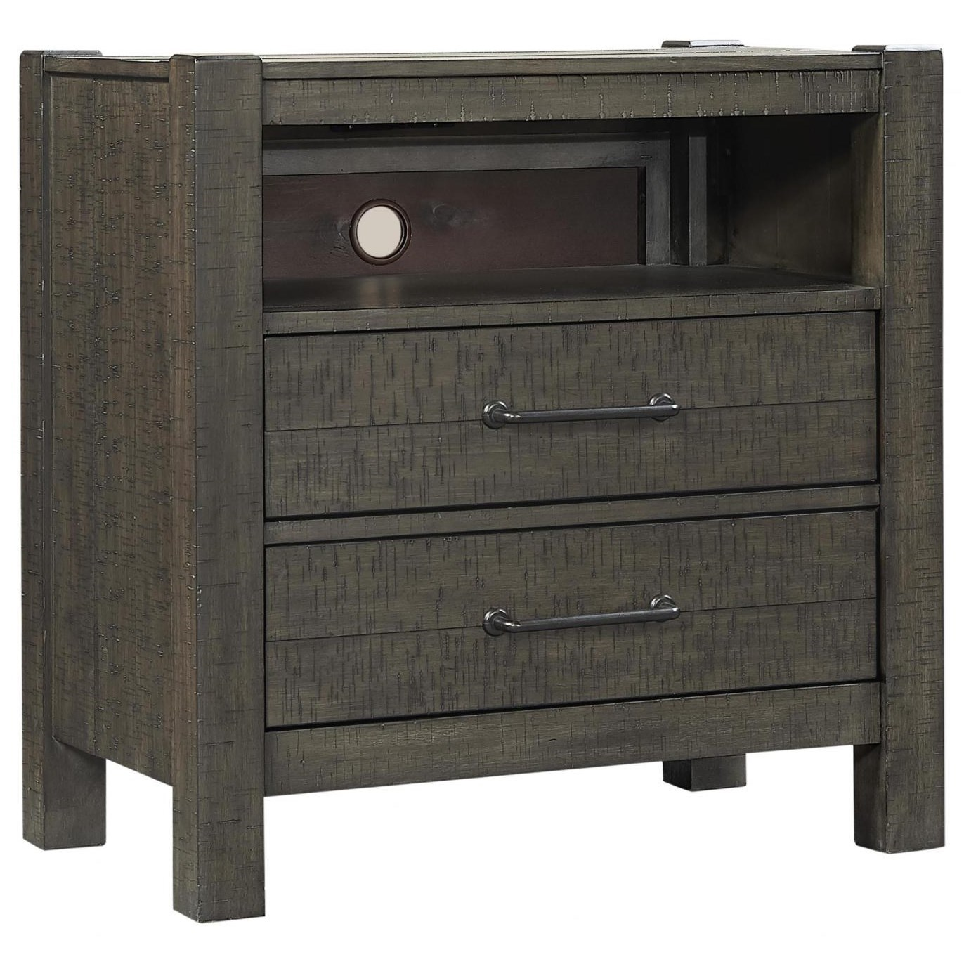 Mill Creek 2 Drawer Nightstand by Aspenhome at Walker's Furniture