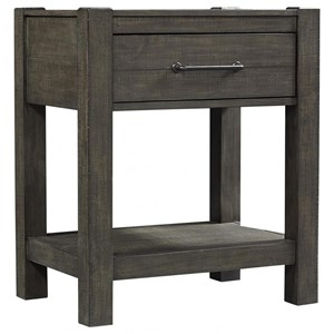 Rustic Transitional 1 Drawer Nightstand