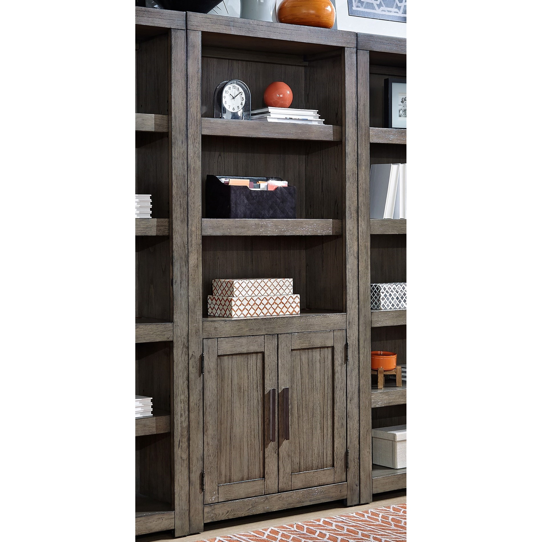 Modern Loft Door Bookcase by Aspenhome at Baer's Furniture