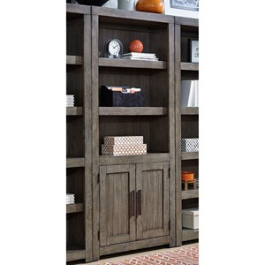 Contemporary Door Bookcase with 3 Adjustable Shelves