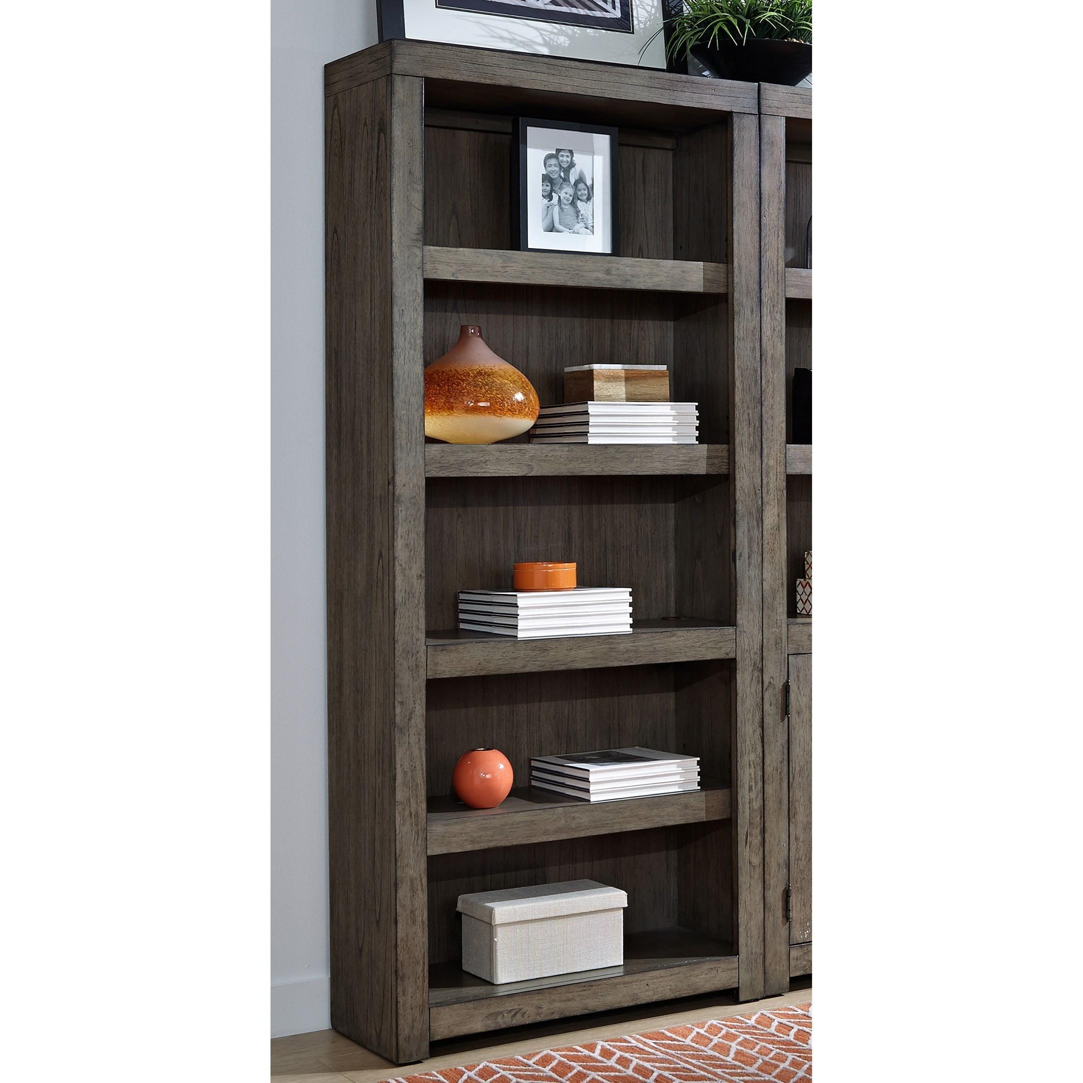 Modern Loft Open Bookcase by Aspenhome at Walker's Furniture