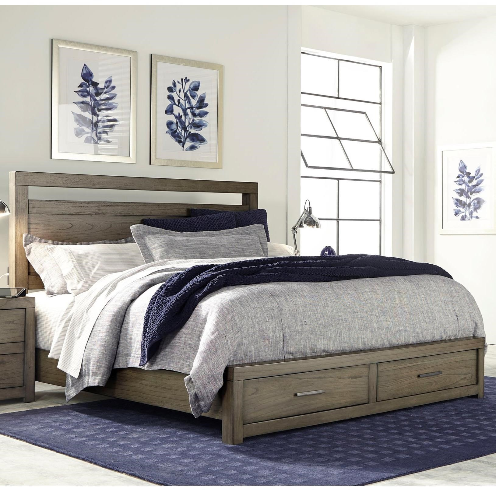 Modern Loft King Panel Storage Bed by Aspenhome at Darvin Furniture