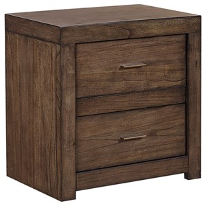 2 Drawer Nightstand with 2 AC Outlets