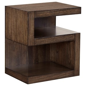 S Nightstand with 2 Shelves