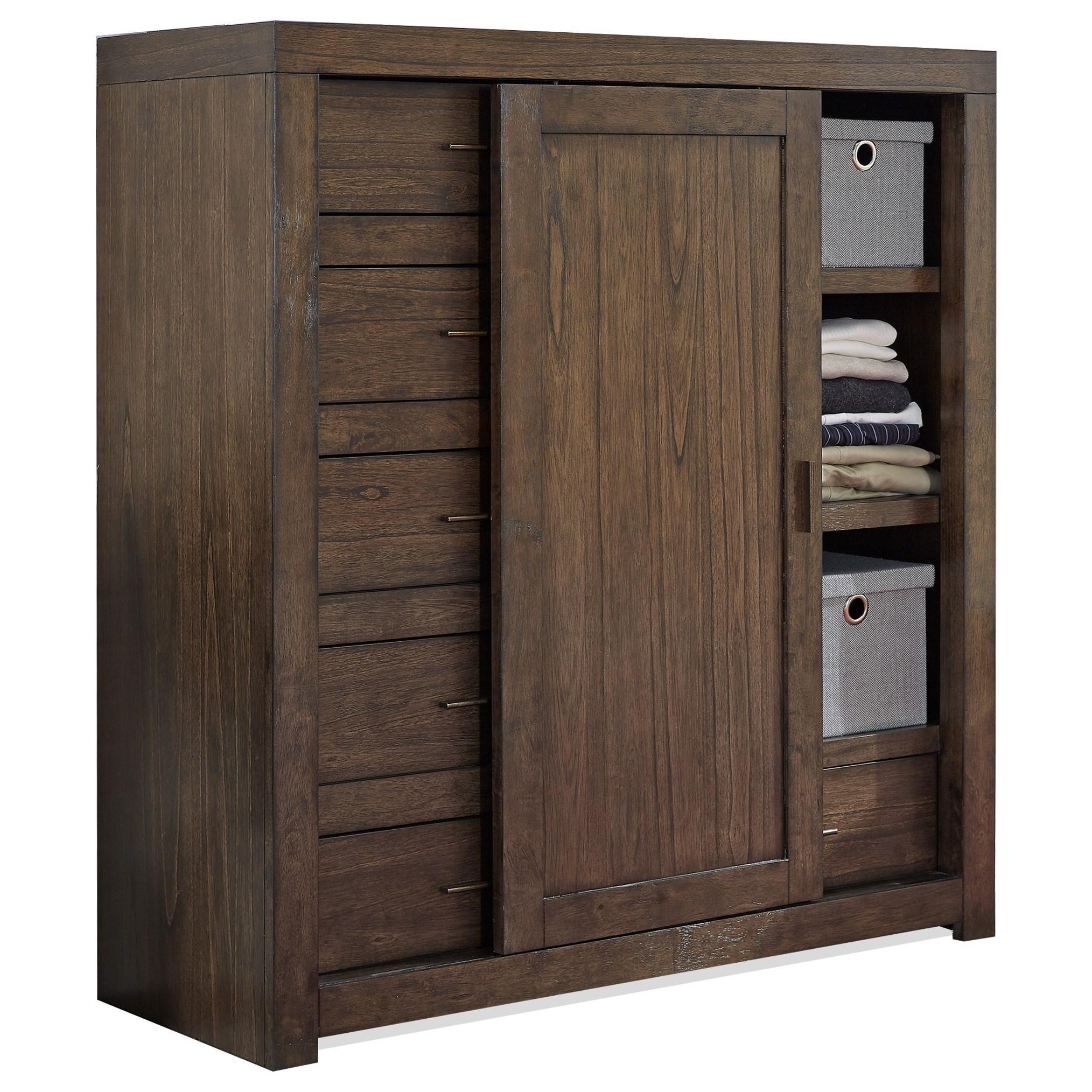 Modern Loft Sliding Door Chest by Aspenhome at Walker's Furniture