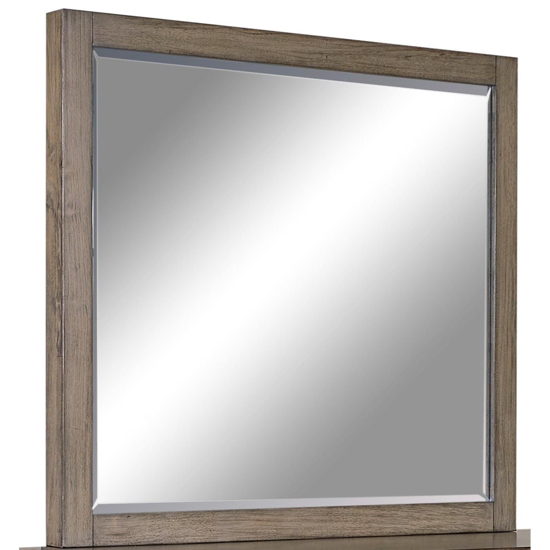 Modern Loft Mirror  by Aspenhome at Walker's Furniture