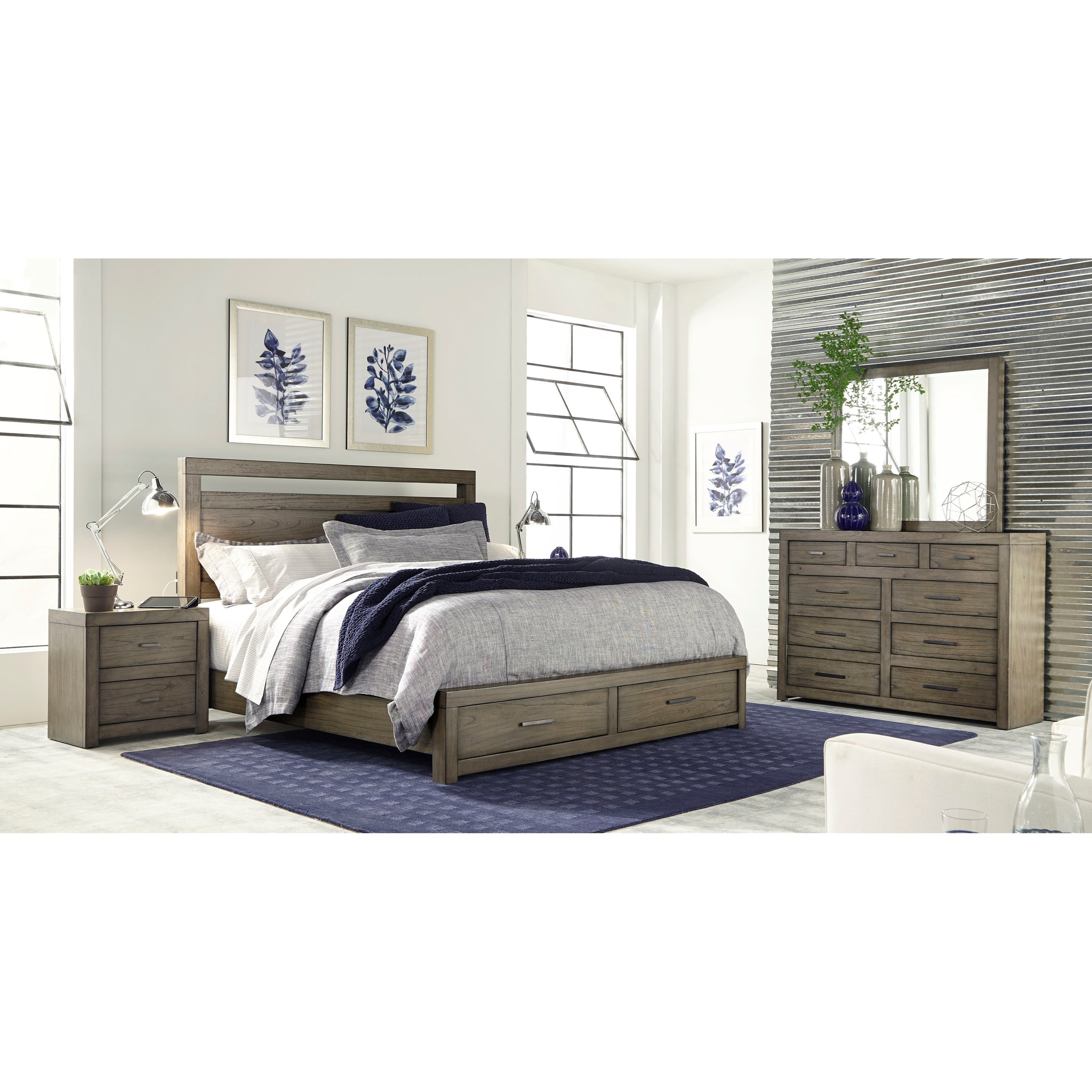 Modern Loft Queen Bedroom Group by Aspenhome at Gill Brothers Furniture