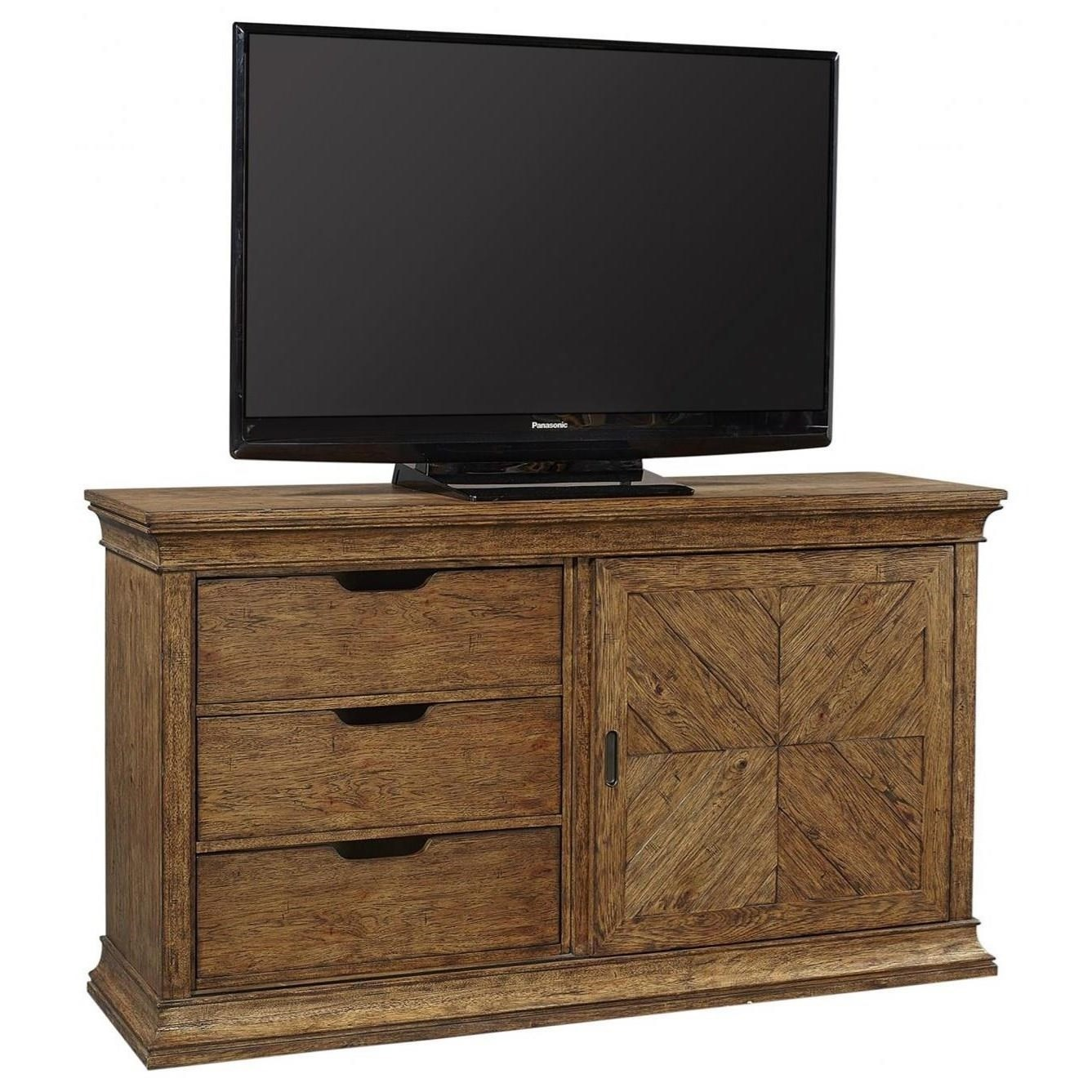 """Mosaic 66"""" Console by Aspenhome at Walker's Furniture"""
