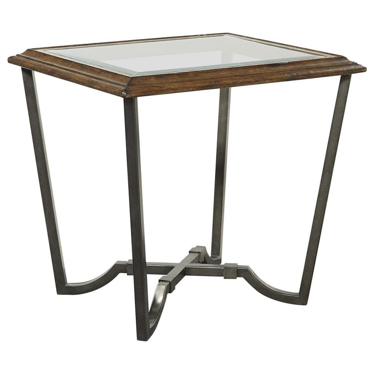 Mosaic End Table with Glass Top by Aspenhome at Walker's Furniture