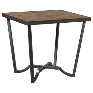 End Table with Wood Top