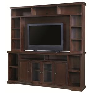 "Aspenhome New Traditions Home Entertainment 84"" Console and Hutch"