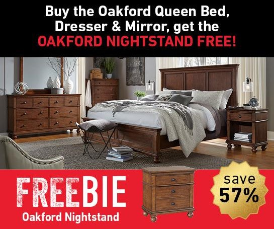 Oakford Oakford Queen Bedroom Package with Freebie! by Aspenhome at Morris Home